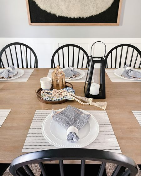 http://liketk.it/3cXe0 #liketkit @liketoknow.it @liketoknow.it.home  Dining chair, Windsor chair, black chair, dining table, lantern, candle, citrus candle, tray, decorative tray  Shop your screenshot of this pic with the LIKEtoKNOW.it shopping app   #LTKunder100 #LTKhome #LTKunder50