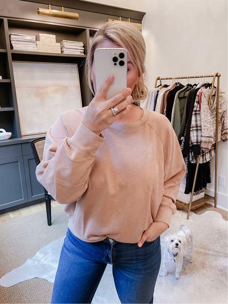 Jcrew sweatshirt on sale! Size: medium. Color: Pale Mocha