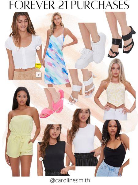 Recent Forever 21 Purchases  #f21xme #forever21 #affordablestyle #summerstyle #LTKunder50 #LTKsalealert #LTKshoecrush @liketoknow.it #liketkit http://liketk.it/3innU