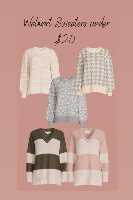 Walmart Sweaters under $20  #LTKstyletip #LTKSeasonal #LTKunder50