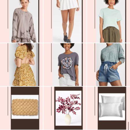 Target new arrivals // trends for less // tennis skirt // basics // summer dress // home decor // silk pillowcase   #LTKhome #LTKunder50 #LTKfit