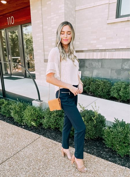 Simple workwear look! These Calvin Klein business pants are the best for all heights.  #LTKworkwear #LTKstyletip #LTKhome