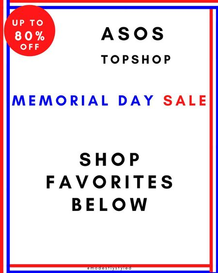 Check out Topshop amazing memorial day sale  #memorialdaysale #sale #topshop #memorialday  #LTKDay #LTKsalealert #LTKstyletip