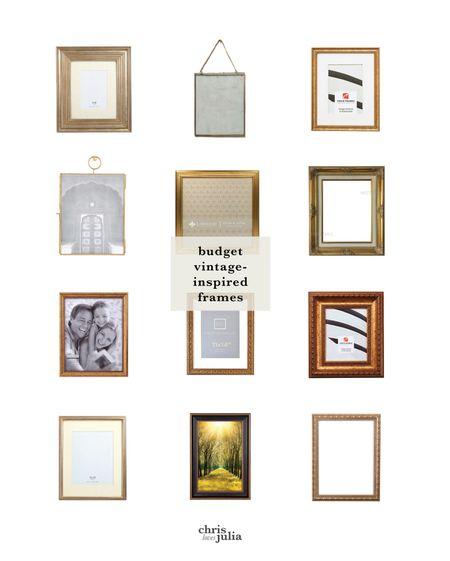 Budget frames. Vintage frames. Gold picture frames. http://liketk.it/2Zmti #liketkit @liketoknow.it