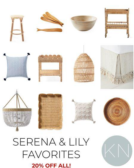 Serena & Lily sale off all* with code NEWSEASON. Home decor coastal decor macrame bedskirt woven tray bar cart wood bowl bead chandelier fall decor rattan decor  #LTKhome #LTKsalealert