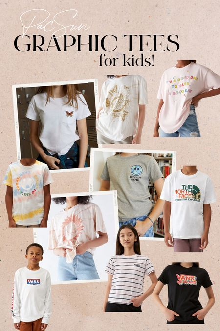 Who doesn't love a good graphic tee?! PacSun has a ton right now. I ordered some for my kids and they can't wait for them to come.   #LTKkids #LTKbacktoschool