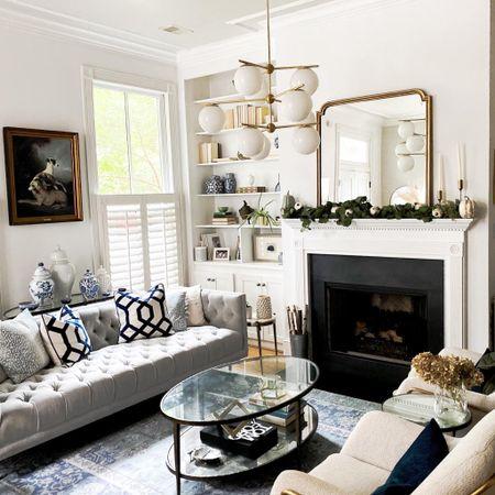 Fall decor, fall home, living room style, fireplace, mantle, coffee table, sofa, rug   #LTKSeasonal #LTKhome