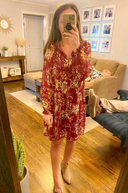 Walmart dress fits tts wearing size small  Fall dress  #LTKstyletip #LTKunder50 #LTKsalealert