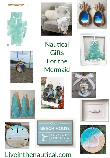 Holiday Gift Guides!  Would I really be Live In the Nautical if I didn't cover my fellow mermaids? Here are some great ideas for the mermaid in your life or people who just love nautical decor.  #LTKHoliday #LTKGiftGuide #LTKhome