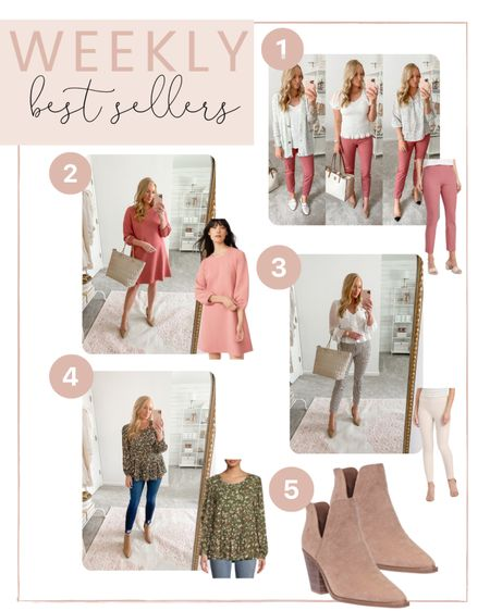 This weeks top sellers are in! You all are loving these classic work wear pants, fall dresses and affordable fall booties!   #LTKunder100 #LTKSeasonal #LTKworkwear