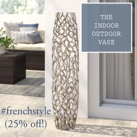 The silver indoor / outdoor vase. #frenchstyle  On sale now at over 25% off!  #LTKsalealert #LTKhome #StayHomeWithLTK @liketoknow.it.home http://liketk.it/35xIt #liketkit @liketoknow.it