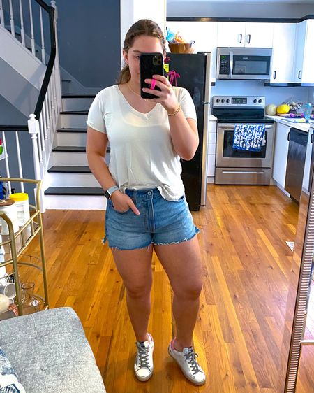 LTK DAY IS HERE! My trusty steed outfit for every day! My favorite tees with my new fave denim shorts?! Say no more. All 20% off!!  Download the LIKEtoKNOW.it shopping app to shop this pic via screenshot #liketkit @liketoknow.it http://liketk.it/3hkaF