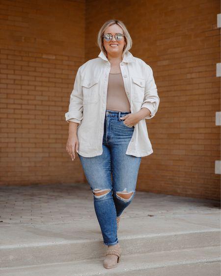 Shacket  Good American  Jeans  Fall outfit  Fall style   #LTKstyletip #LTKSeasonal #LTKunder100