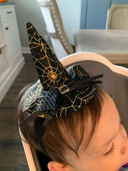 Little witch hat for toddler girl costume. Toddler witch costume. Halloween costume. Witch hat. Ellie is 17months for reference.   #LTKkids #LTKfamily #LTKSeasonal