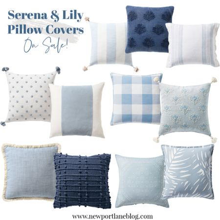 Serena and Lily pillow covers are on sale! So many pretty blue and white options!     #LTKhome #LTKunder100 #LTKsalealert