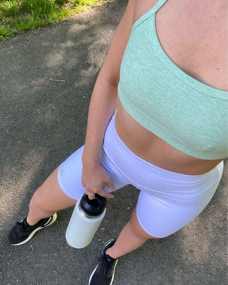 http://liketk.it/3fTEf @liketoknow.it #liketkit athletic outfit, athleisure, biker shorts, workout wear, alo yoga