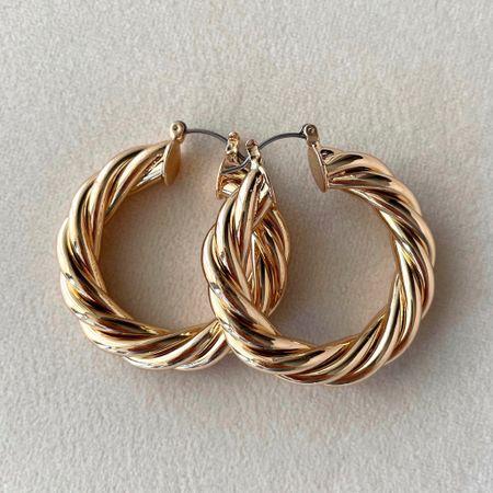 Jones Hoops by 8 Other Reasons! Sold at Nordstrom   cute gold hoops   chunky gold twisted hoop earrings   fun earrings   fun hoops for summer 2021   jewelry trends   jewelry inspo   cute jewelry trends for summer   earring inspo http://liketk.it/3eKjA @liketoknow.it #liketkit #LTKunder100 #LTKunder50 #LTKstyletip