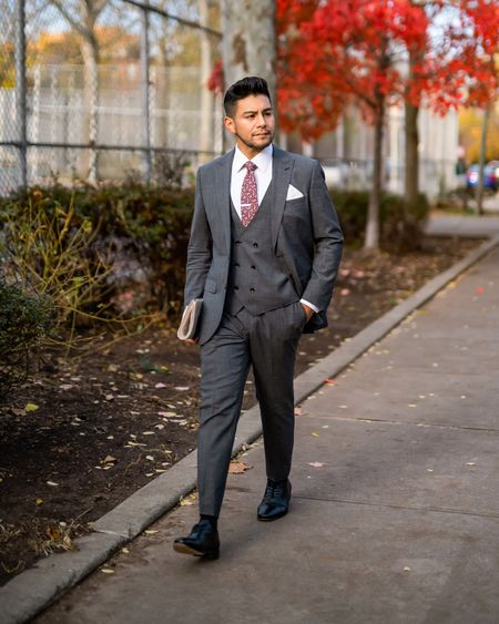 Even though today's fashion is shifting to a more relaxed & casual aesthetic, it's important to discover what you like rather than keeping up with trends. Clothing, for better or for worse, represents who you are. Wear things that bring you joy! Let me know what clothing brings you joy in the comments below. 👇🏾👇🏾  Grey Three piece suit by @sayki1924  White Shirt by @libertyshirtco  Black Shoes by @florsheimshoes  Paisley Tie by @tiesdotcom  #LTKmens #LTKworkwear
