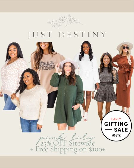 It's the last day for the LTK Early Gifting Sale!  Be sure to snag these savings before it's too late!  #save #sale #pinklily #dresses #fall #backtoschool #teacher #outfits #sweater   #LTKstyletip #LTKSale #LTKDay
