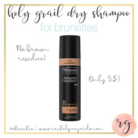 Okay, brunettes. This is seriously the BEST dry shampoo of all time! No chalky or brown residue. And it's so affordable! I'm obsessed and I'm so happy I found it. 😭  #StayHomeWithLTK #LTKbeauty