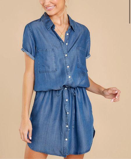 Chambray dress   #LTKstyletip