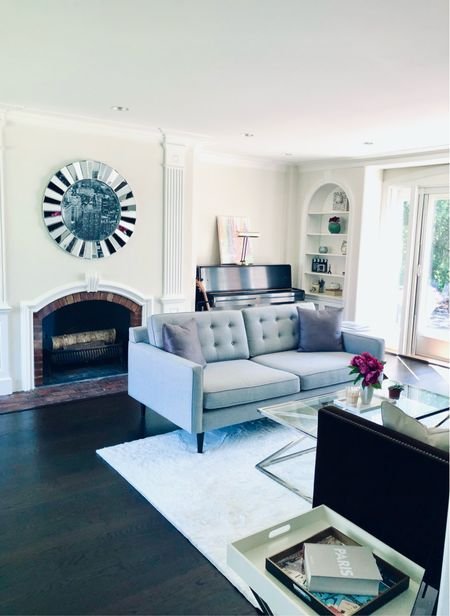 Had this grey sofa in my ultra modern NYC apartment and now in my traditional living room in the suburbs… Love it's minimal look and that it works in so many different types of spaces.   #LTKhome #LTKsalealert #LTKfamily
