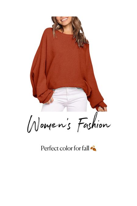 Amazon Fashion. Womens Red Fall Sweater   #LTKSeasonal #LTKunder50 #LTKstyletip