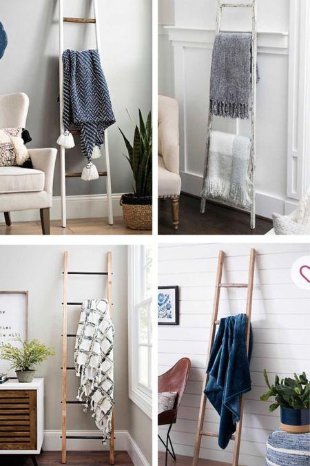 Blanket ladder 20% off Farmhouse Christmas decor Winter decor Cozy home accents Wooden ladder Wood blanket ladder Kirklands Joanna Gaines  http://liketk.it/33RWJ #liketkit @liketoknow.it #LTKsalealert #LTKunder50 #LTKhome