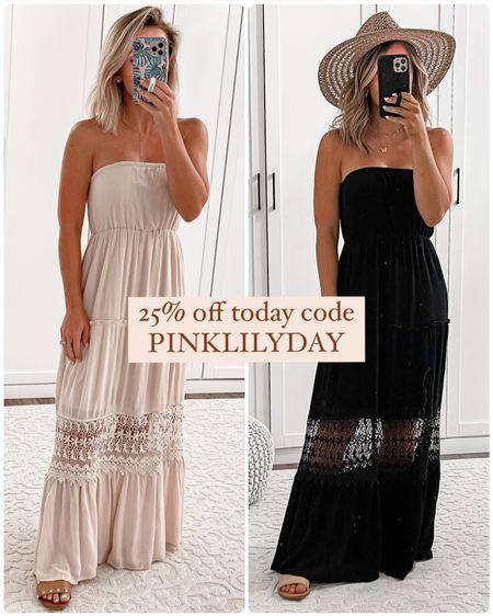 Pink lily maxi dress on sale 25% off code PINKLILYDAY Wearing size small   http://liketk.it/3i9eX #liketkit @liketoknow.it #LTKunder50 #LTKunder100 #LTKsalealert #laurabeverlin