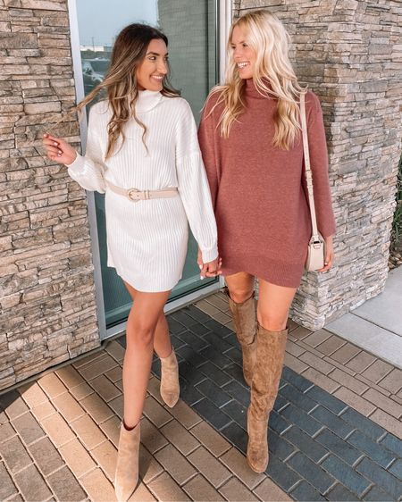Affordable sweater dresses for the win! We'll be wearing these all fall long 🍁 http://liketk.it/2ZE8c #liketkit @liketoknow.it #LTKunder50 #LTKunder100 #LTKstyletip