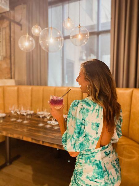 Wearing a Small  Birthday dress // party dress // cocktail dress // tie dye dress // cocktail attire // date night outfit // date dress   #LTKstyletip #LTKSeasonal #LTKwedding