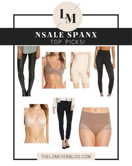 Nordstrom Anniversary Sale Spanx top picks! http://liketk.it/2THY7 @liketoknow.it #liketkit #LTKsalealert #LTKunder100 #LTKfit NSALE   faux leather leggings   shapewear   bralette   pant   panties