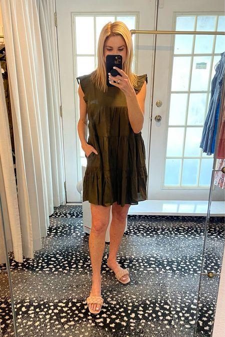 Love this olive dress for summer!   Wearing a size M.   #LTKshoecrush #LTKunder100 #LTKstyletip