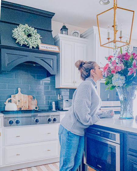Going to stop and smell the roses! Linked my mom jeans and sweater as well as some of kitchen details for ya! Happy Monday! http://liketk.it/38rMX #liketkit @liketoknow.it