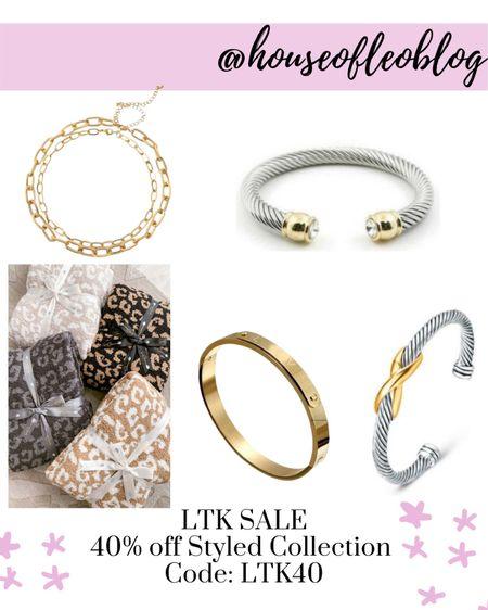 The styled collection, bracelets, jewelry, blankets,   #LTKSale #LTKunder50 #LTKsalealert