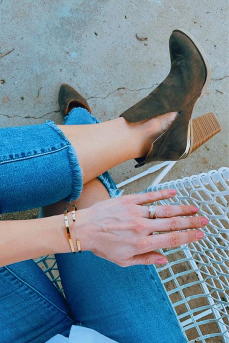 The CUTEST cuffs! One of my friends and I got marching ones and they're perfect to share with a friend or keep both for yourself. Also adjustable so they fit everyone! Super simple way to spice up your stack or pair with a gold watch. #liketkit @liketoknow.it #LTKstyletip #LTKworkwear #LTKunder50 http://liketk.it/3jdGI