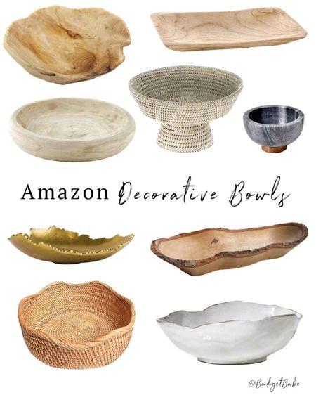 Amazon decorative bowls http://liketk.it/3hHOb #liketkit @liketoknow.it #LTKunder50 #LTKhome #founditonamazon #amazonhome