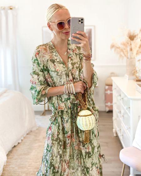 Victoria Emerson accessories. Maxi wedding guest dress.   #LTKstyletip #LTKwedding #LTKunder100