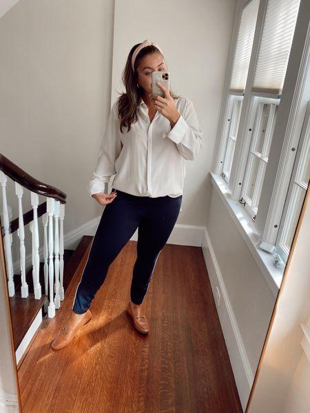 Wearing XL in top, L in pants use CARALYN10   #LTKunder100 #LTKworkwear #LTKstyletip
