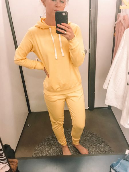 Love this Old Navy French terry sweatshirt and joggers! Both comes in other colors so you can mix and match! They are super comfy and fit TTS! I love the yellow color for spring! Perfect for a lounge day!   http://liketk.it/2AoJJ #liketkit @liketoknow.it #LTKunder100 #LTKunder50 #LTKstyletip #LTKsalealert