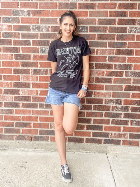 Can't go wrong with a band tee and Vans   #LTKshoecrush #LTKstyletip