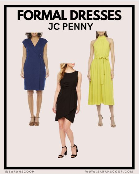 Check out these formal dresses at JC Penny 👗  #dress #jcp #jcpenny #formal #fashion #style #classic #fancy #black #blue #yellow #outfitinspo #outfit #heels  #LTKunder100 #LTKunder50 #LTKstyletip