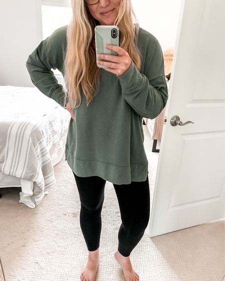 This sweater is the most perfect material!🙌🏼 Paired with the comfiest leggings and you have the perfect match. http://liketk.it/2SjYH #liketkit @liketoknow.it #LTKsalealert #LTKstyletip #LTKunder50