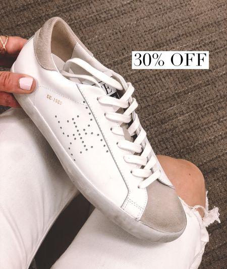 Golden Goose inspired! So soft and quality. White sneakers. Fit tts Nordstrom   #LTKsalealert #LTKshoecrush #LTKstyletip