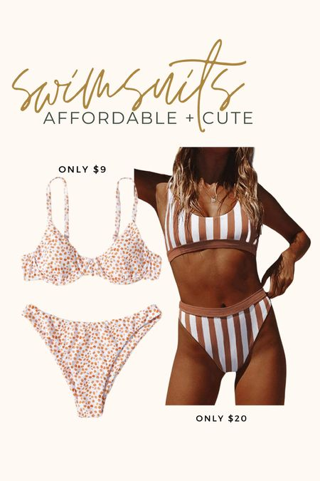 Favorite swimsuits from vacation~  I sized up to a large in the striped bikini + Bella got her normal size small in the floral bikini.  #amazonfashion #bikini #vacaystyle #beachstyle #sheinfinds #amazonfinds #swimsuit #beachfashion   #LTKtravel #LTKunder50 #LTKswim