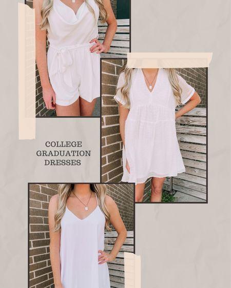 College graduation dresses I love! http://liketk.it/3eXkB #liketkit @liketoknow.it #LTKstyletip #LTKunder50 #LTKwedding #graduation #whitedresses