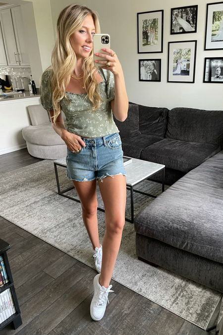 Abercrombie 20% Off favorite summer styles exclusive on the LTK app for LTKDAY. I'm wearing a 25 in the shorts and an xs in the top   #LTKsalealert #LTKDay #LTKSeasonal
