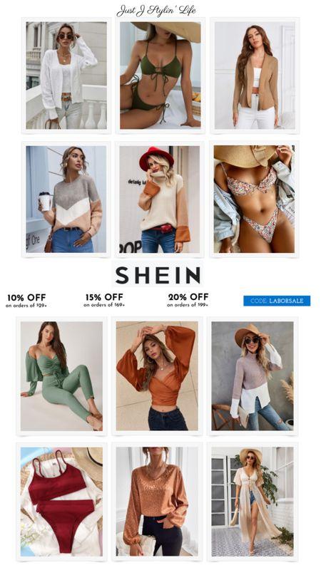 So many amazing fall fashion finds at SheIn! All items are under $30. Use code LABORSALE for an additional % off. Bikini swim, top and cardigan set, color block sweater, satin top, leopard blouse. http://liketk.it/3ndaK @liketoknow.it #liketkit #LTKSeasonal #LTKsalealert #LTKunder50