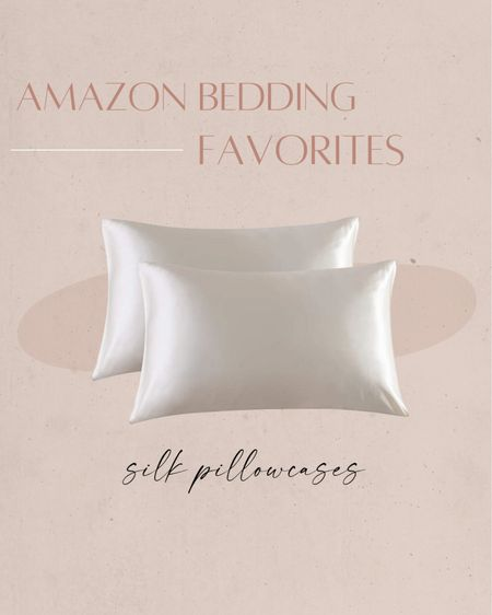Amazon bedding favorites: silk pillowcases ✨ http://liketk.it/3iSNM #liketkit @liketoknow.it #LTKhome #LTKunder50   Amazon, Amazon home, home decor, home inspo, bedding