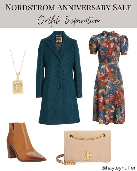 How gorgeous would this be for a fall wedding outfit? The print is so beautiful on this dress.  Nsale, Nordstrom, fall style, wedding guest outfit, wedding guest dress, office style  #LTKworkwear #LTKshoecrush #LTKwedding